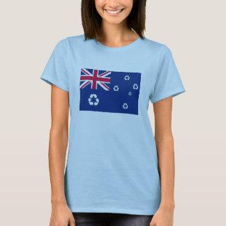 T-shirt australiano da bandeira do reciclar camiseta