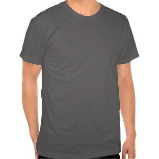 T-shirt azul do logotipo do dente do tubarão