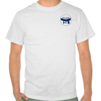 T-shirt azul escuro da correia das artes marciais