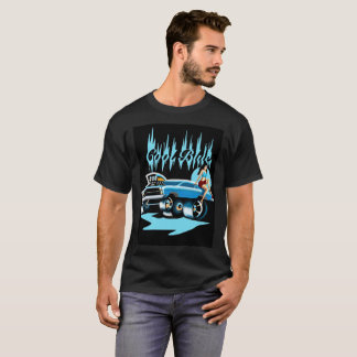 "T-shirt ""azul"" legal do Pinup do hot rod para Camiseta"