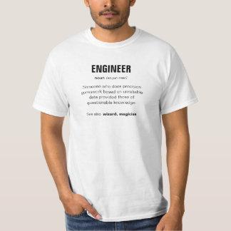 T-shirt barato do engenheiro camiseta