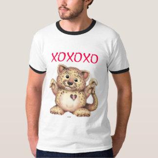 T-shirt básico da campainha dos homens do AMOR do Camiseta