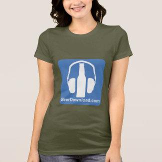 T-shirt básico de BeerDownload das senhoras Camiseta
