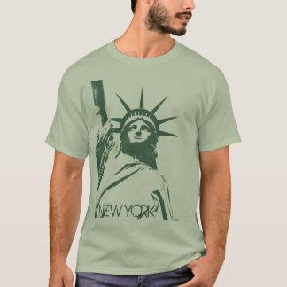 T-shirt básico de New York do t-shirt da estátua Camiseta