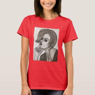 T-shirt básico do design da diva das mulheres camiseta