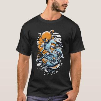 T-shirt básico do gajo do surfista camiseta