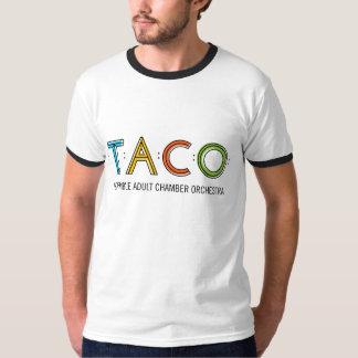 T-shirt básico do TACO da campainha dos homens,