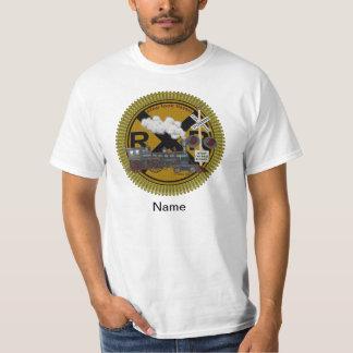 T-shirt básico dos homens velhos do trem camiseta
