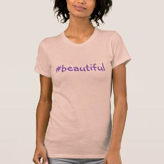 T-shirt #Beautiful de Hashtag