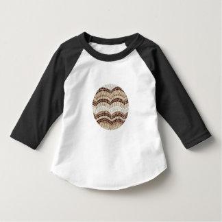 T-shirt bege do Raglan da criança do mosaico
