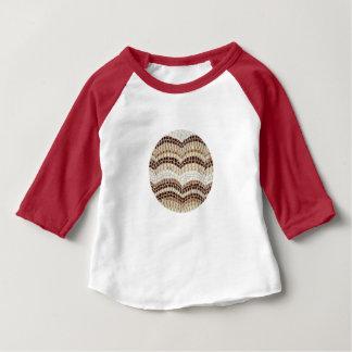 T-shirt bege do Raglan do bebê do mosaico