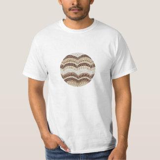 T-shirt bege do valor do mosaico