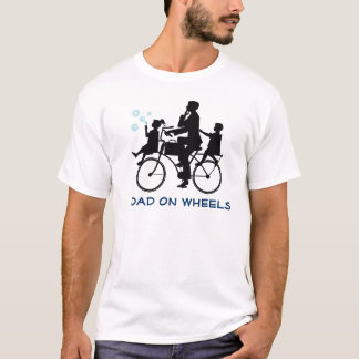 T-shirt Biking do dia dos pais do pai engraçado Camiseta