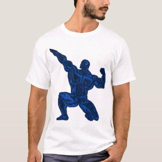 T-shirt Bodybuilding da pose dos homens Camiseta