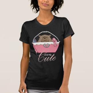 T-shirt bonito com o animal de estimação da bolsa