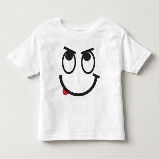 T-shirt bonito da cara dos desenhos animados para