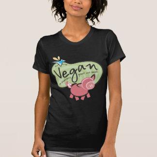 T-shirt bonito da mensagem do Vegan
