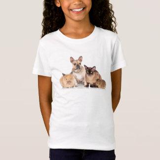 T-shirt bonito da novidade das meninas dos amantes camiseta
