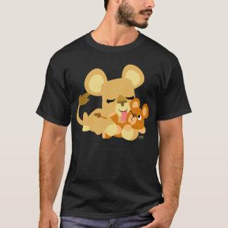 T-shirt bonito do banho do leão do bebê dos camiseta