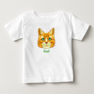T-shirt bonito do bebê do Meow do gato de gato Camiseta Para Bebê
