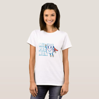 T-shirt bonito do gráfico do homem do bloco do camiseta