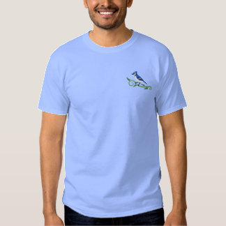 T-shirt bordado azul de Jay