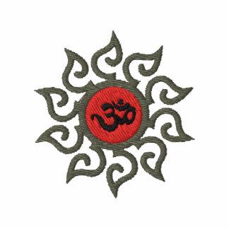 T-shirt bordado símbolo do OM da ioga