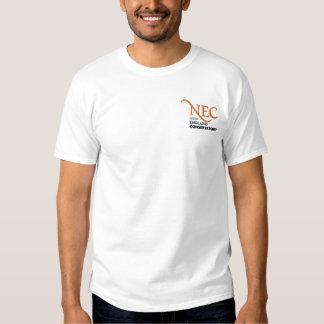 T-shirt branco bordado NEC (homem)