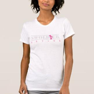 T-shirt branco da nação de Swoldier para ela
