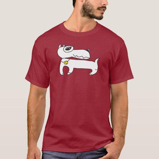 T-shirt branco da obscuridade do Pinscher diminuto Camiseta