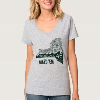 T-shirt caminhado ADK46 do V-Pescoço