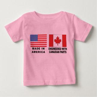 T-shirt canadense americano