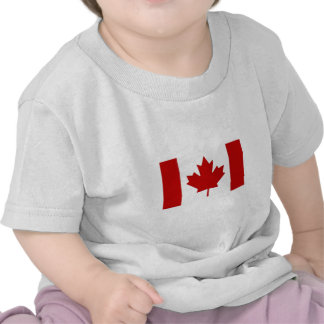 T-shirt canadense das crianças da bandeira