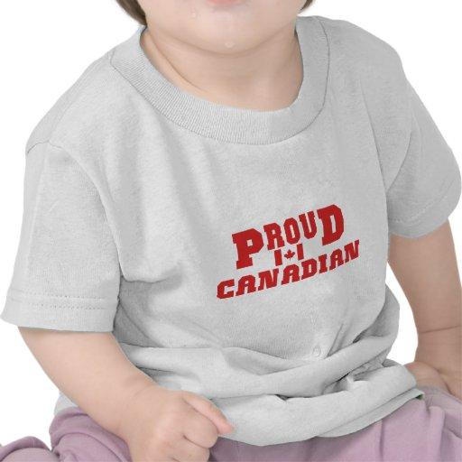 T-shirt canadense orgulhoso