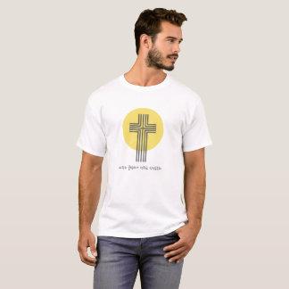 T-shirt católico do logotipo da comunidade camiseta