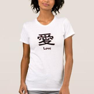 T-shirt chinês do amor do símbolo