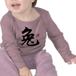 T-shirt chinês do símbolo do coelho