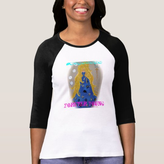 "t-shirt Cinderela ""Forever Young"" Camiseta"