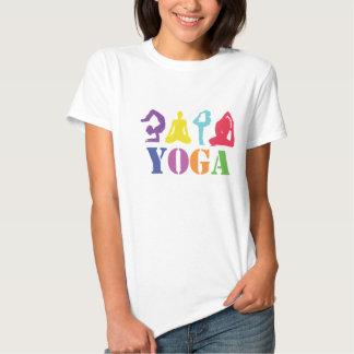 T-shirt colorido do design da ioga