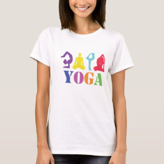 T-shirt colorido do design da ioga camiseta