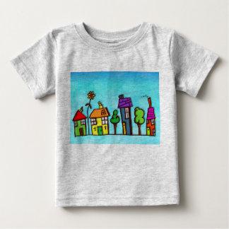 T-shirt colorido do jérsei da multa do bebê das camiseta para bebê