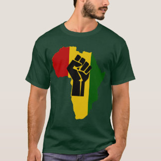 T-shirt colorido do punho de África Rasta Camiseta