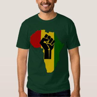 T-shirt colorido do punho de África Rasta obscurid