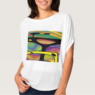 T-shirt colorido para mulheres