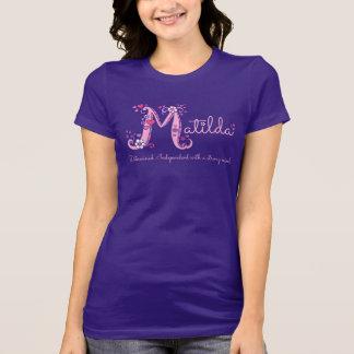 T-shirt conhecido do monograma do significado das camiseta