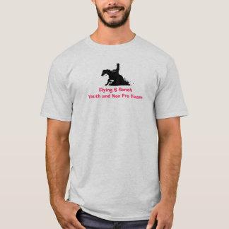 T-shirt controlado do cavalo da vaca camiseta