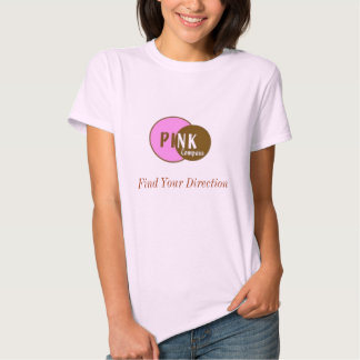 T-shirt COR-DE-ROSA da boneca do compasso