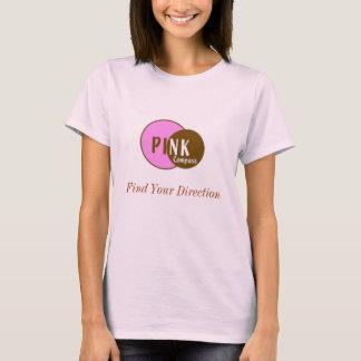 T-shirt COR-DE-ROSA da boneca do compasso Camiseta
