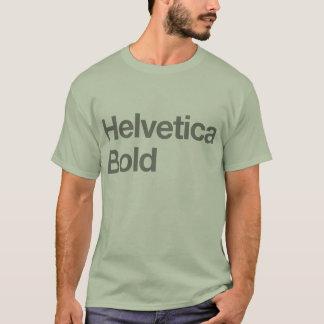 T-shirt corajoso Helvética Camiseta
