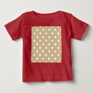 T-shirt criativo/vermelho dos miúdos com bege camiseta para bebê